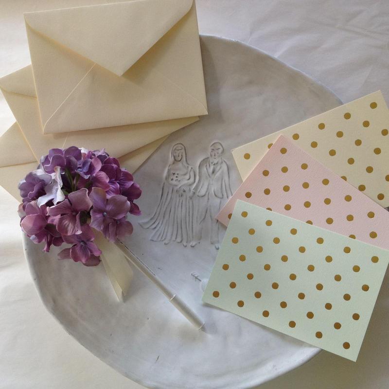 メッセージカード(水玉)