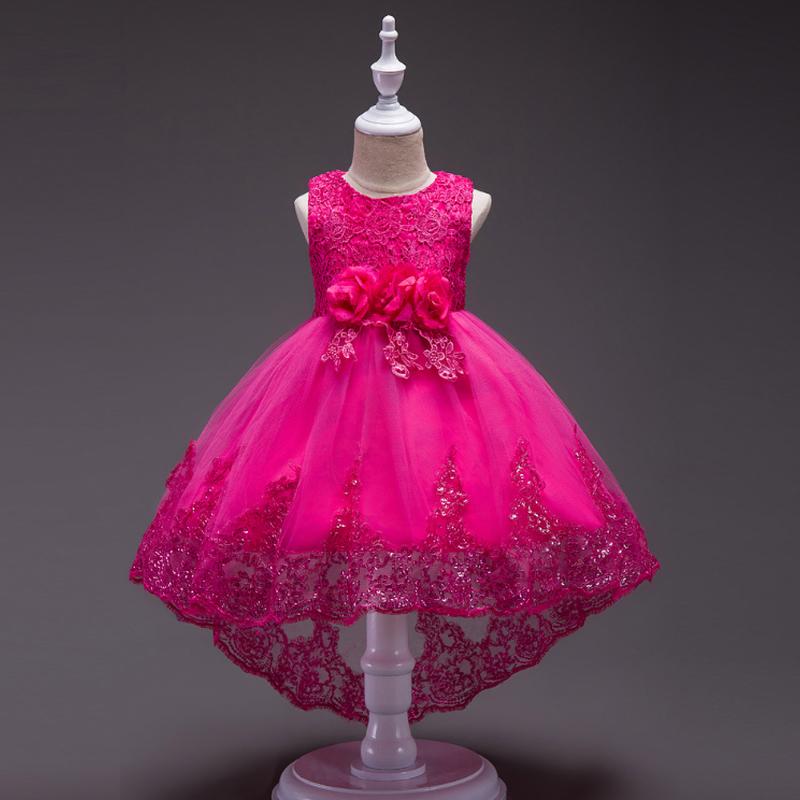 ♡ディープピンク♡キッズ♡ドレス♡女の子♡結婚式♡発表会♡110-150size♡(039)