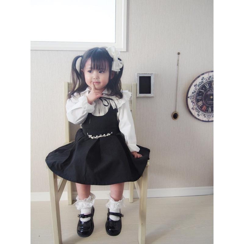 (即納あり)♡ワンピース+フリルシャツ♡100-140size♡(060)
