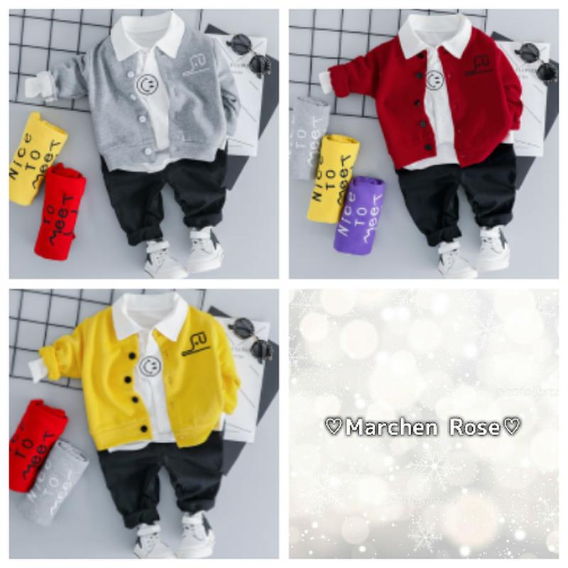 (即納あり)♡男の子♡3点set♡70-100size♡3color♡(069)
