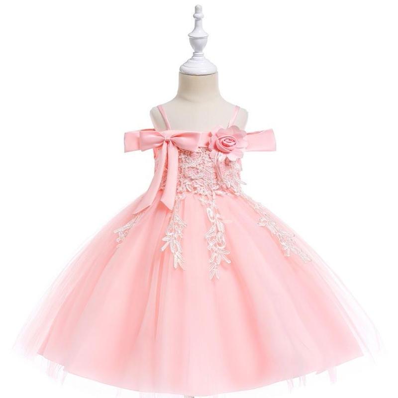 (即納)♡ピンク♡キッズ♡ドレス♡女の子♡結婚式♡発表会♡110-150size♡(043)