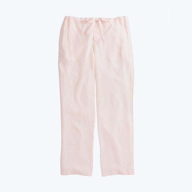 SLEEPY JONES // Silk Marina Pajama Pant Pale Pink