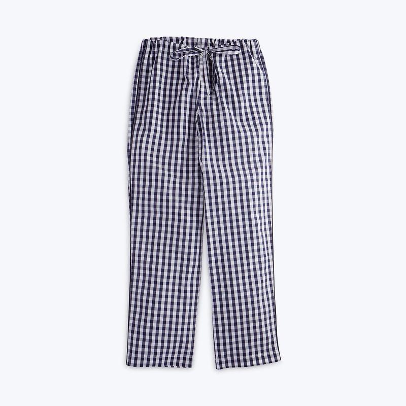 SLEEPY JONES // Marina Pajama Pant Large Gingham Navy