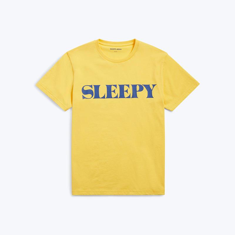 SLEEPY JONES // JACKSON T-SHIRT YELLOW