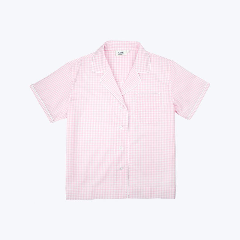 SLEEPY JONES // Corita Shirt Small Gingham Pink