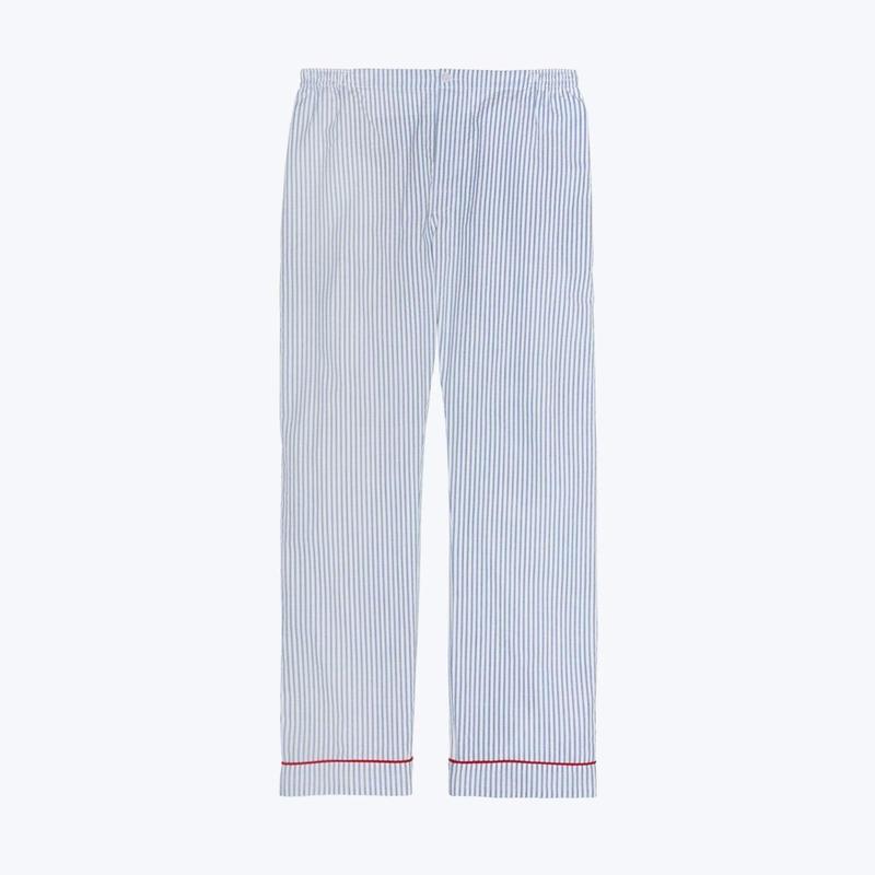 SLEEPY JONES // Marcel Pajama Pant Seersucker Stripe Blue