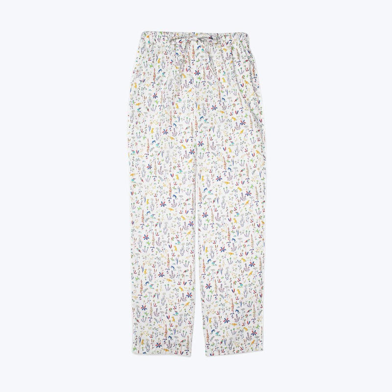 SLEEPY JONES // Marina Pajama Pant Liberty Theo Birds Yellow