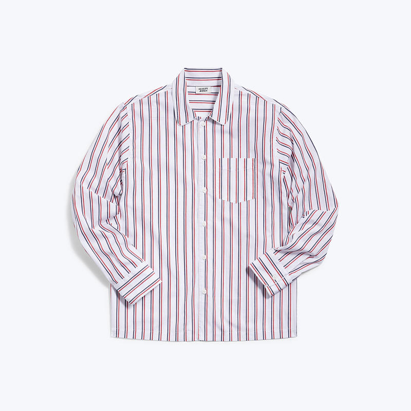 SLEEPY JONES // Henry Pajama Shirt Dual Stripe