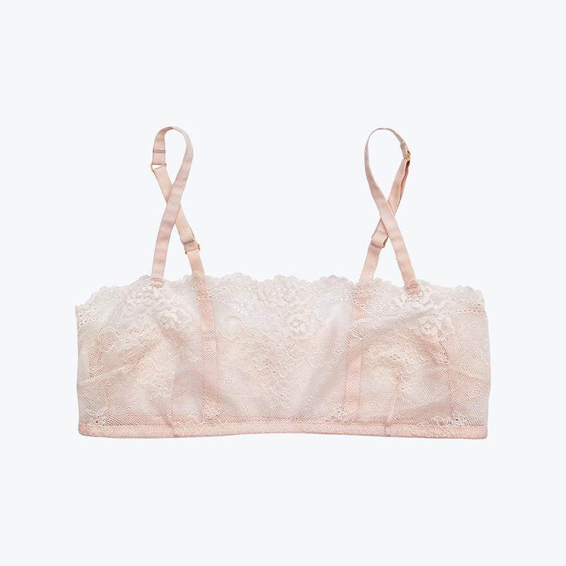 SLEEPY JONES // Carson Lace Bralette Pale Pink