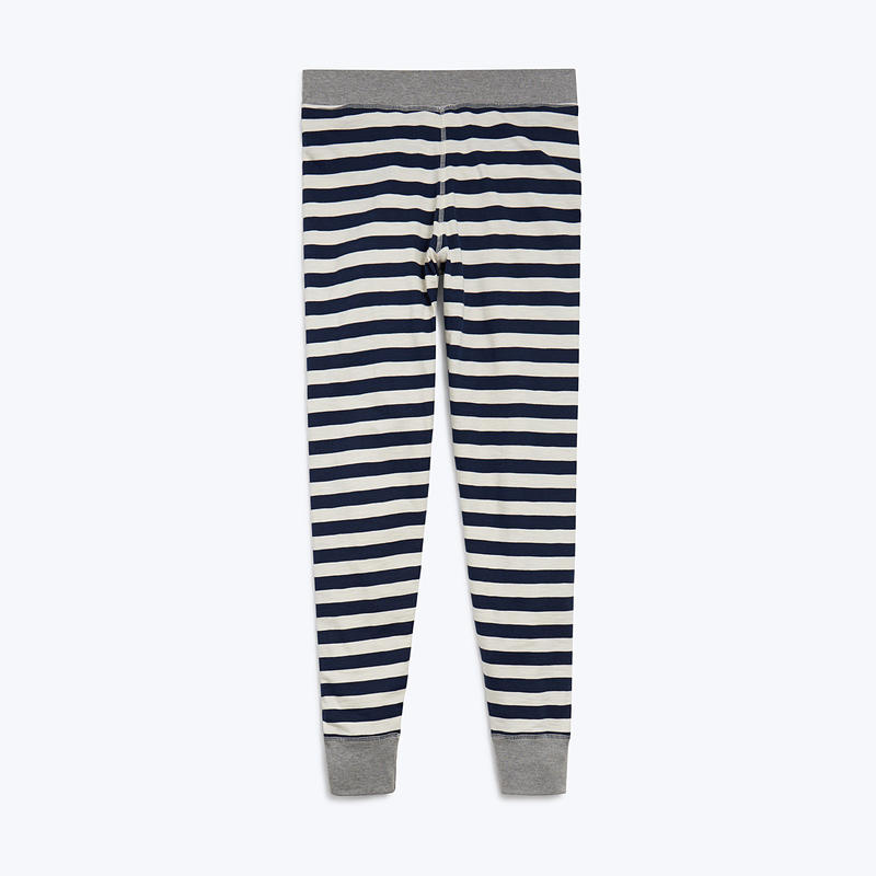 SLEEPY JONES // Helen Legging Navy Slub Stripe