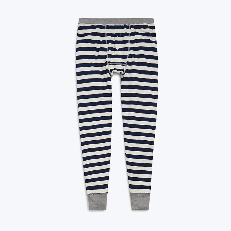 SLEEPY JONES // Kieth Long Johns Navy Slub Stripe