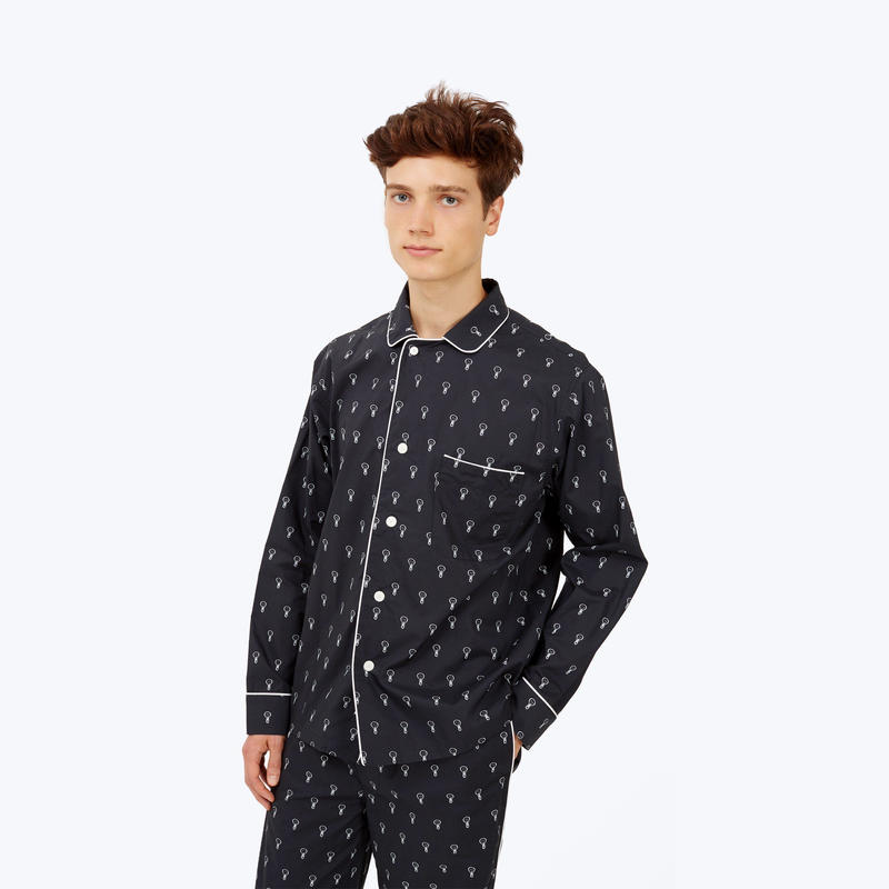 SLEEPY JONES // DLF Lowell Pajama Set Black&White Lightbulbs