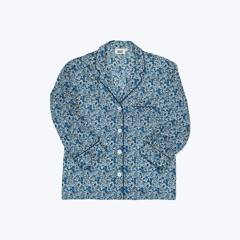 SLEEPY JONES // Marina Pajama Shirt Liberty Emma and Georgina Blue
