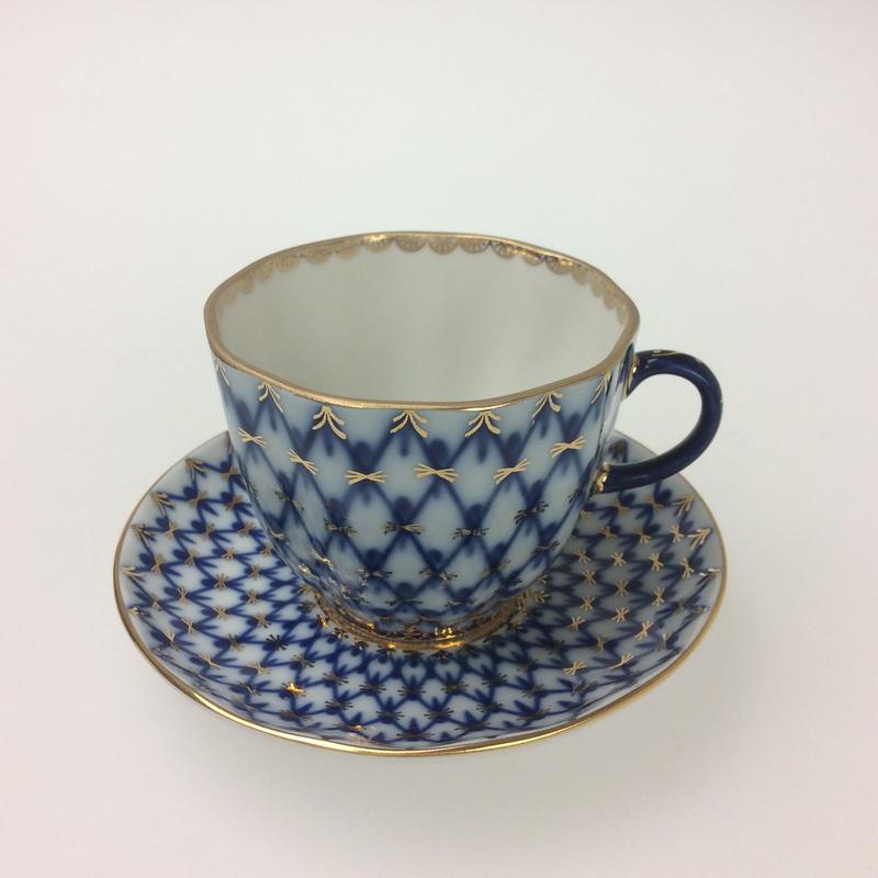 【インペリアルポーセリン】コバルトネット  コーヒーカップ&ソーサー