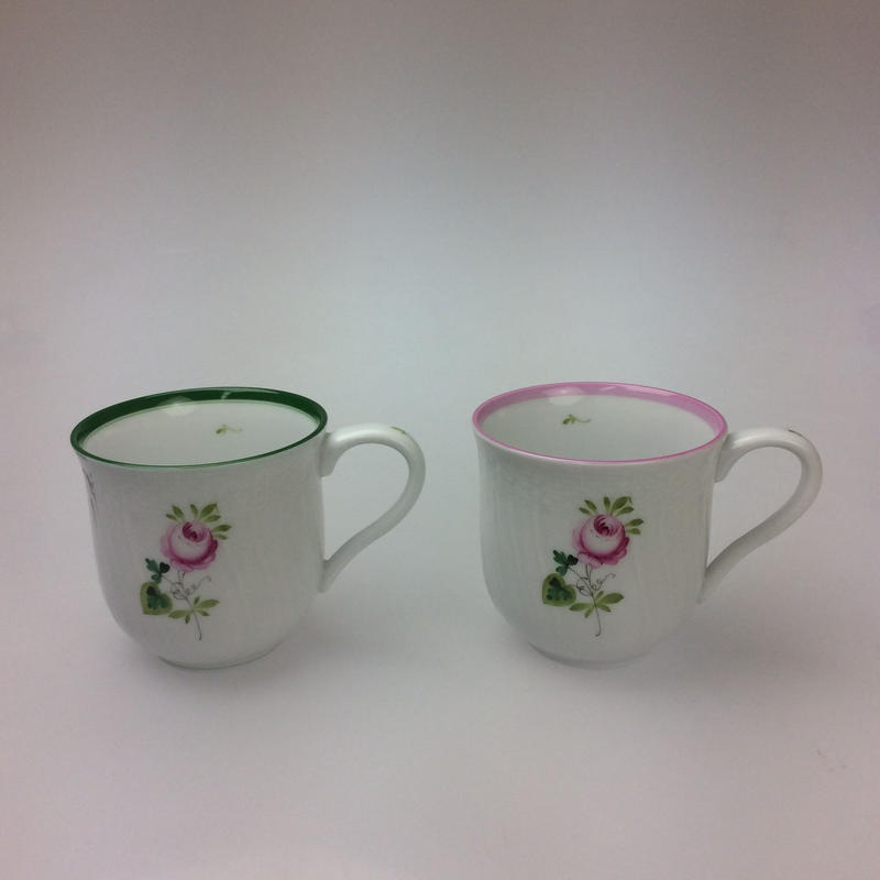【ヘレンド】ウィーンのバラ マグカップ200cc  1739  グリーン/ピンク