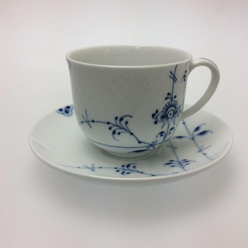 【ロイヤルコペンハーゲン】  ブルーパルメッテ コーヒーカップ&ソーサー240cc