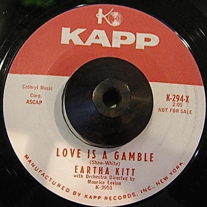 JAZZ LATIN45 EARTHA KITT/ LOVE IS A GAMBLE