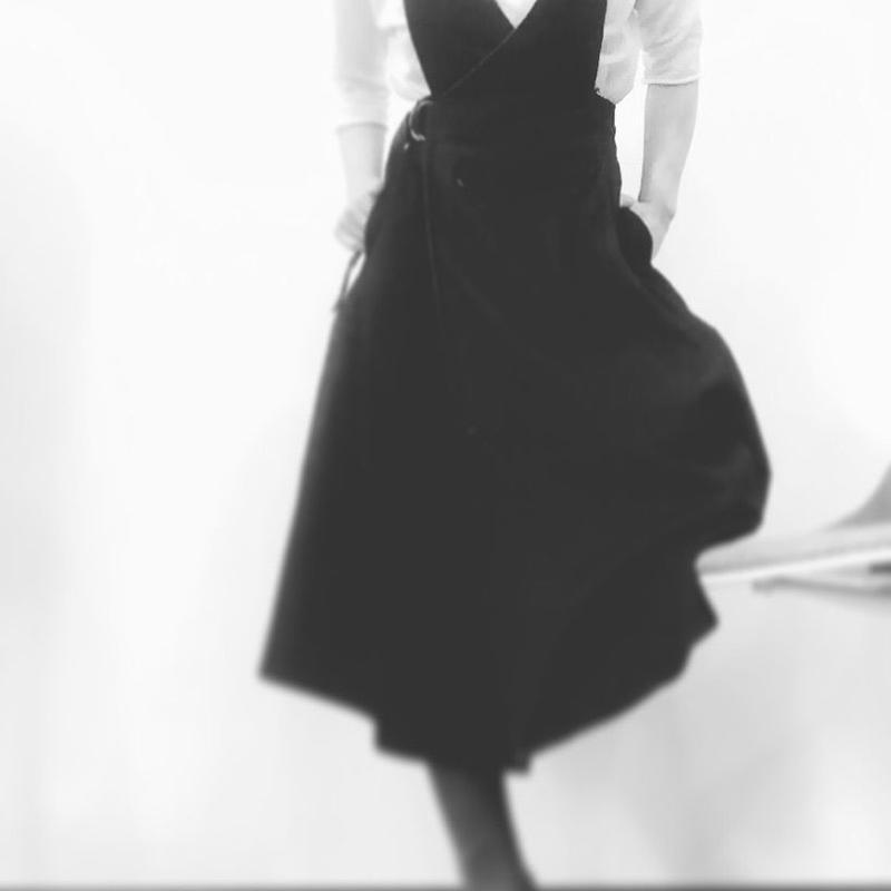 インディゴデニムジャンパースカート