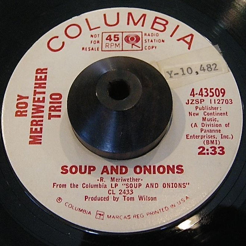 JAZZ FUNK45*ROY MERIWETHER TRIO / SOUP AND ONIONS