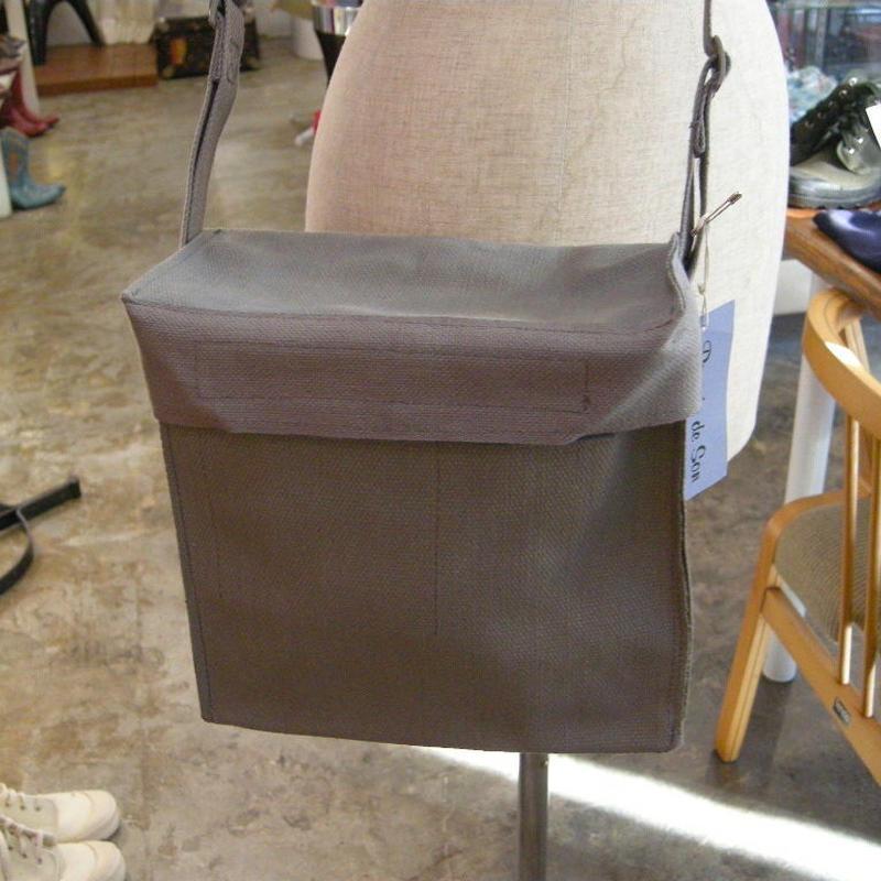 デンマークコットンキャンバス箱型バッグ