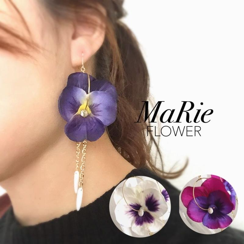 Flower accessory 【パンジー】ピアス/イヤリング
