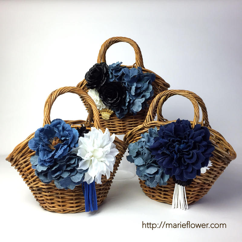 Denim Flower Bag      [全3種類]