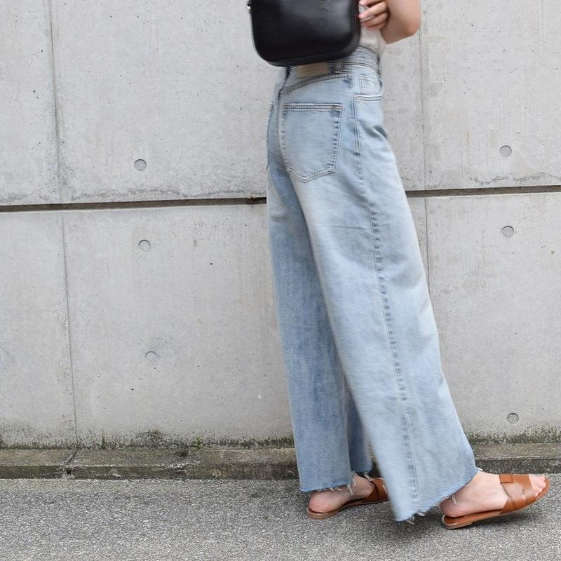 Denim Wide Pants