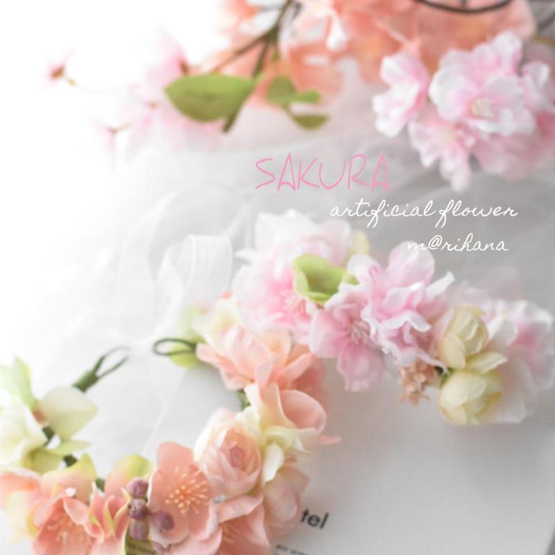 【ご予約】春のさくら花かんむり