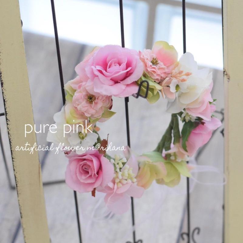 ピュアピンク・花かんむり