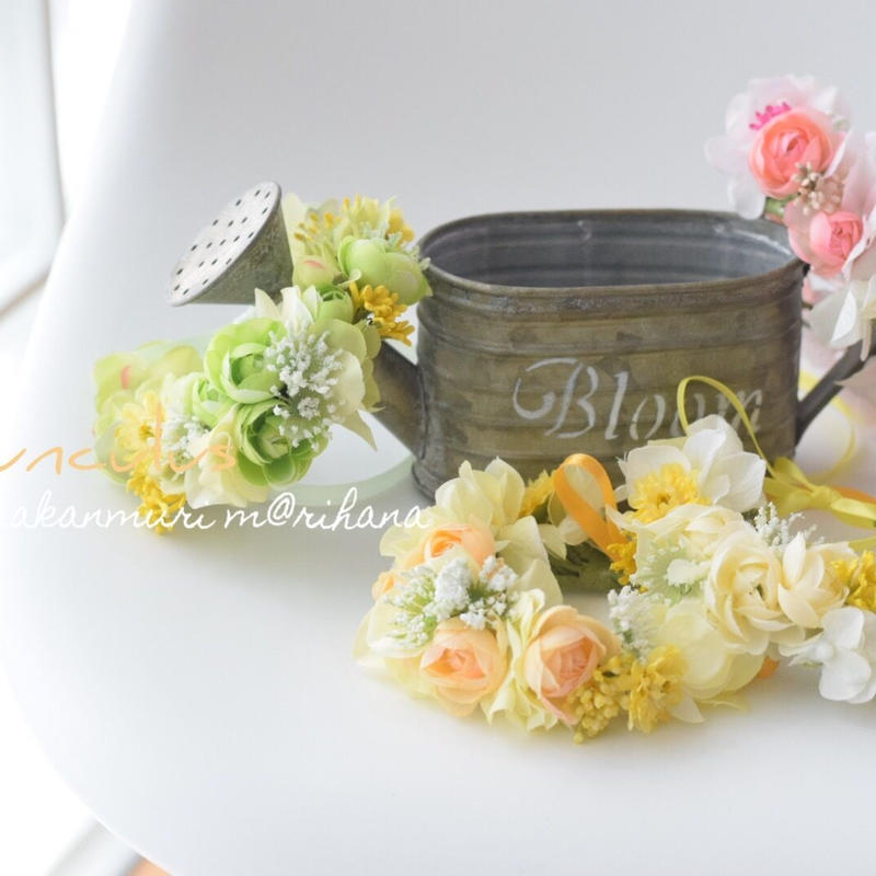 【再販】ミニラナンキュラスの花かんむり