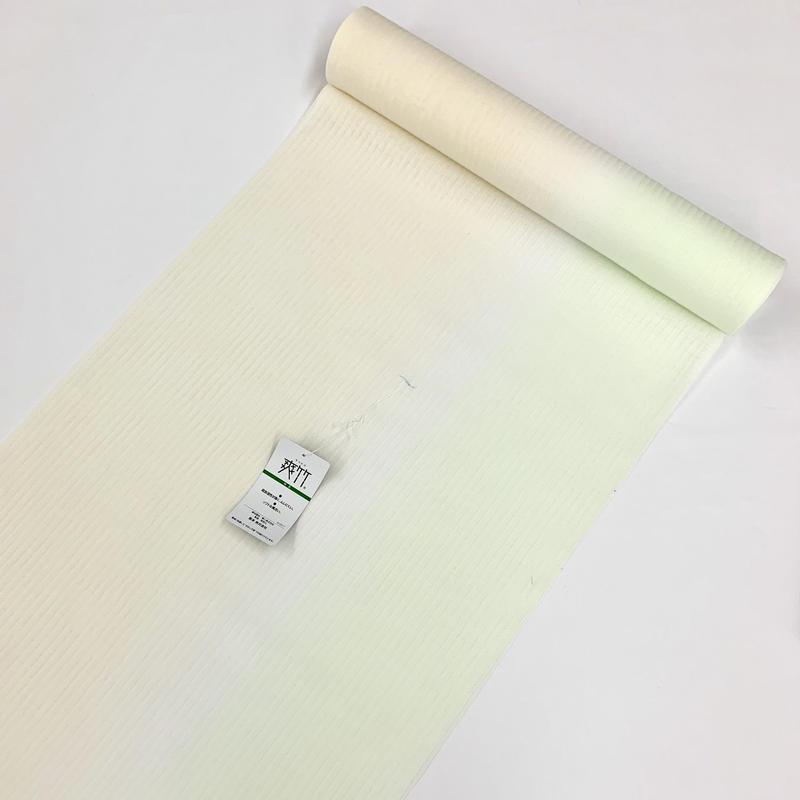 6-761 爽竹長襦袢 反物 ぼかしイエロー×グリーン 2