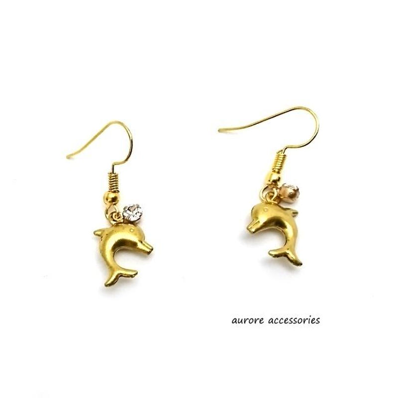 dolphin pierced earrings ドルフィンピアス