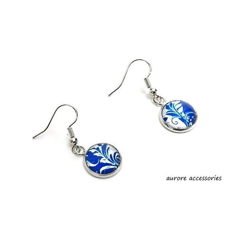 blue pierced earrings