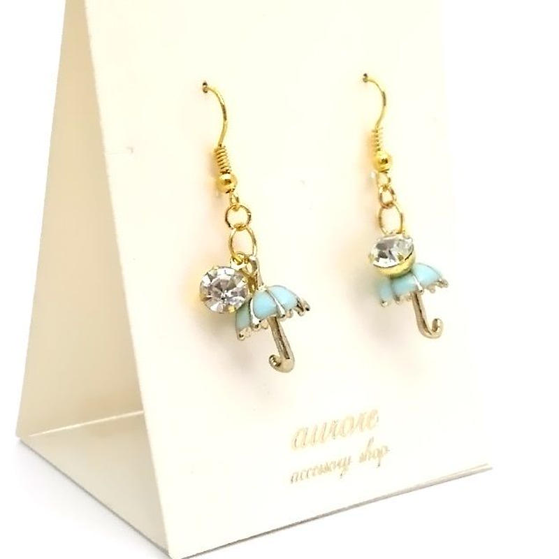 umbrella pierced earrings 傘のピアス ブルー系