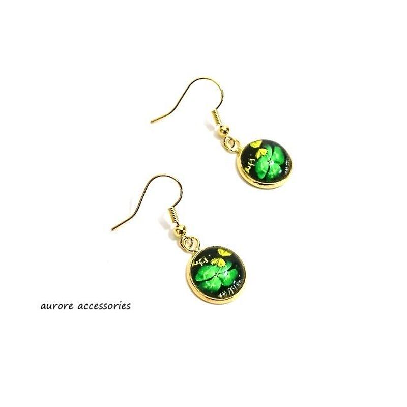 clover pierced earrings クローバーのピアス