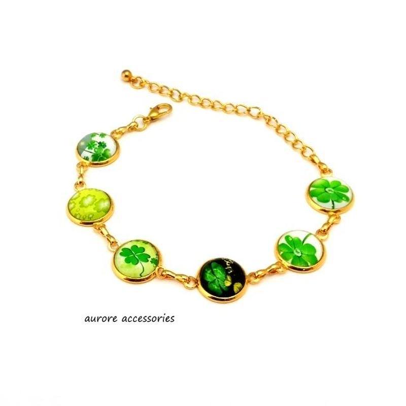 bracelet ブレスレット クローバー