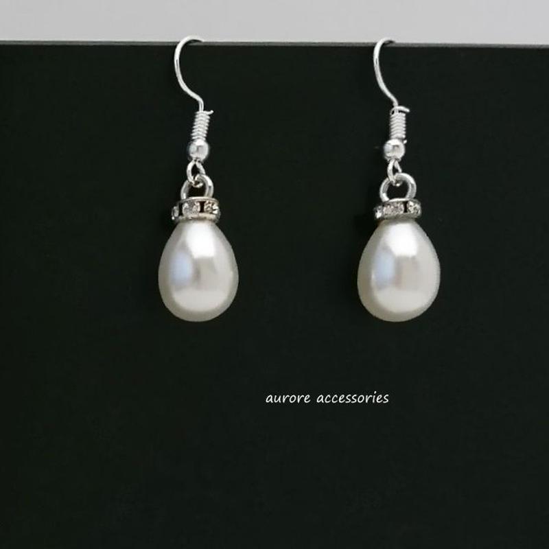 pearl pierced earrings ドロップ パールのピアス