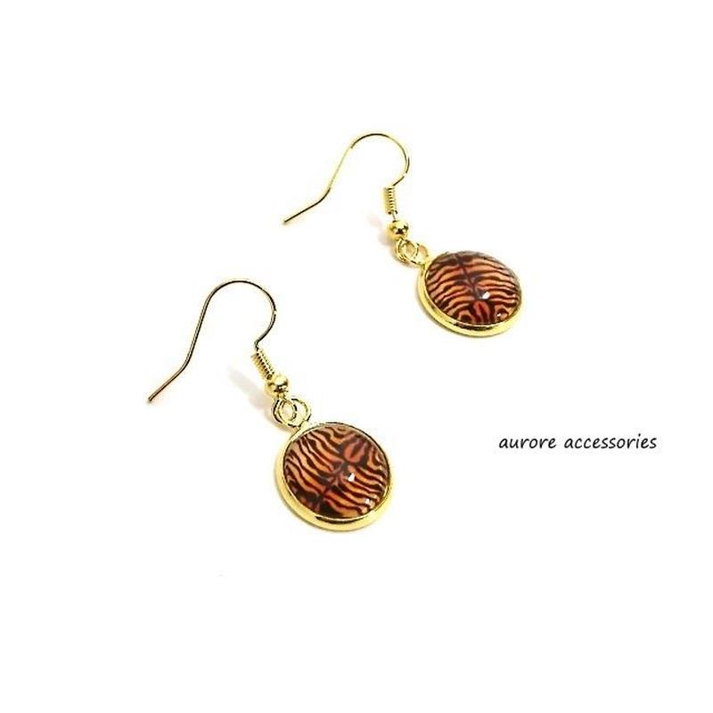 ブラウン pierced earrings ブラウンピアス