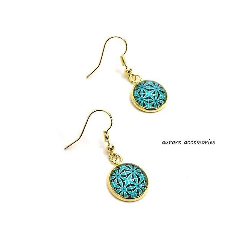 geometric pattern pierced earrings 幾何学模様のピアス  のコピー