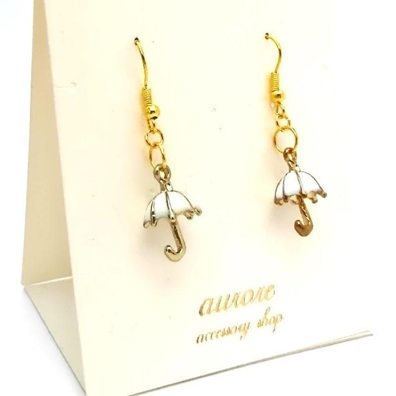 umbrella pierced earrings 傘のピアス ホワイト