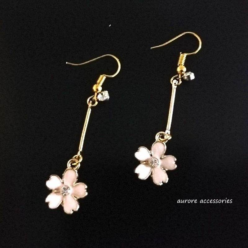 cherry blossoms pierced earrings