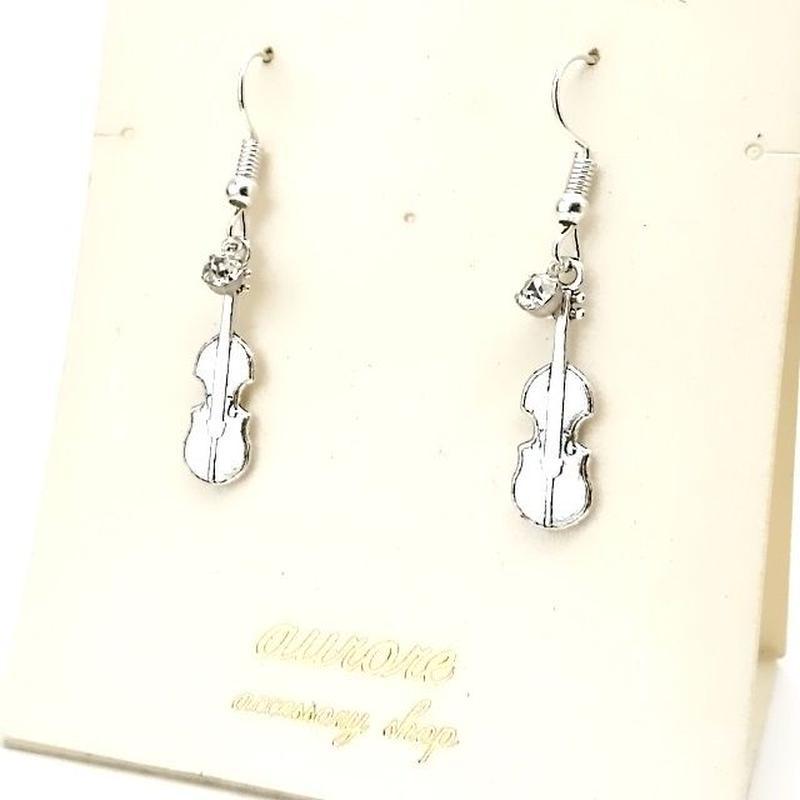 violin pierced earrings バイオリンのピアス