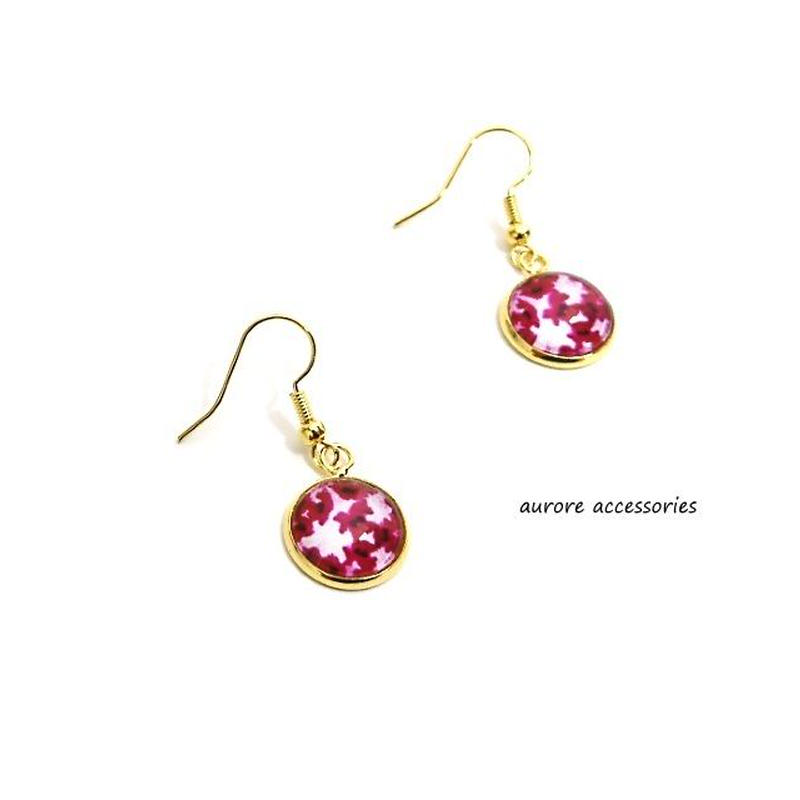 colorful pierced earrings カラフルピアス フラワー