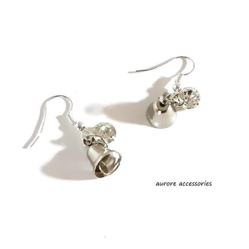 bell pierced earrings ベルのピアス シルバー