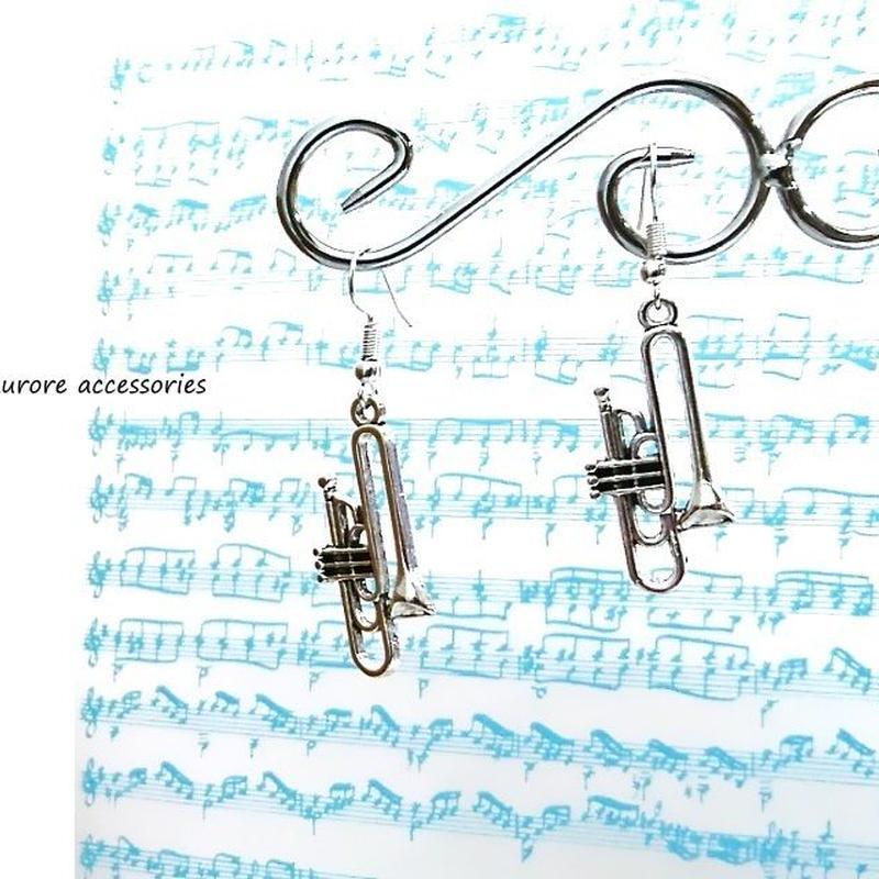 trumpet pierced earrings トランペットピアス