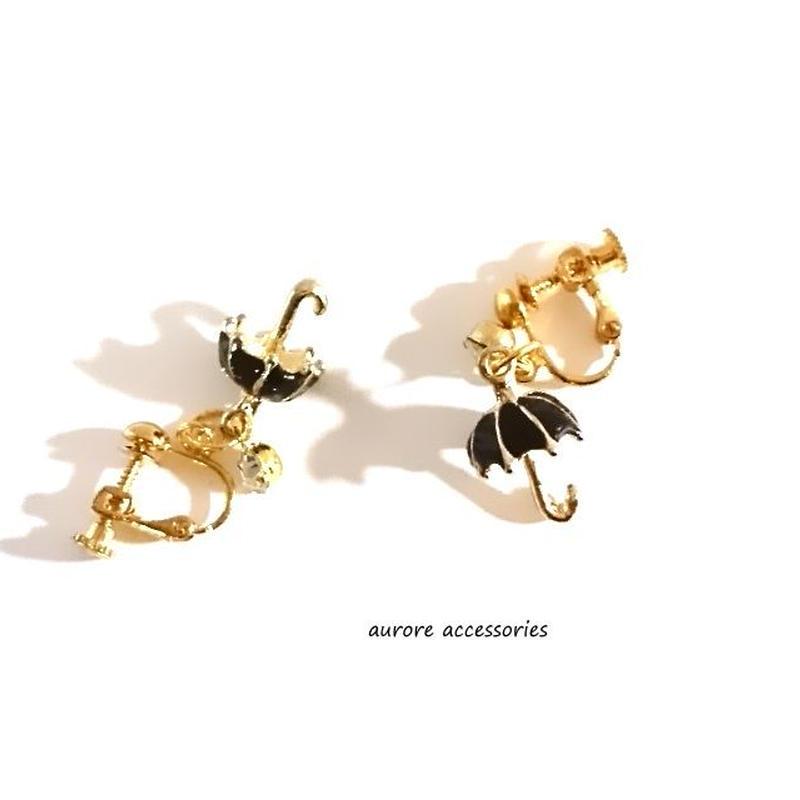 umbrella pierced earrings 傘のピアス ブラック