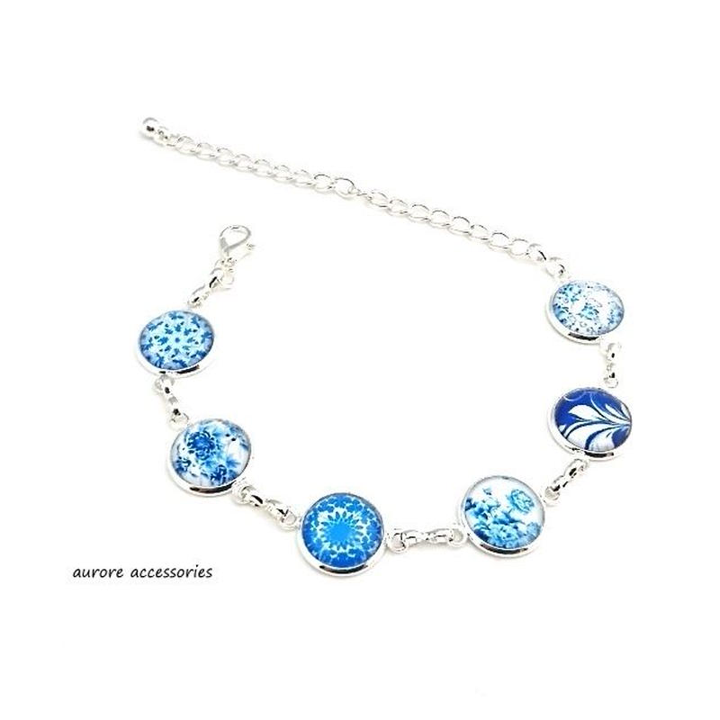 bracelet ブレスレット チェーン ブルー系