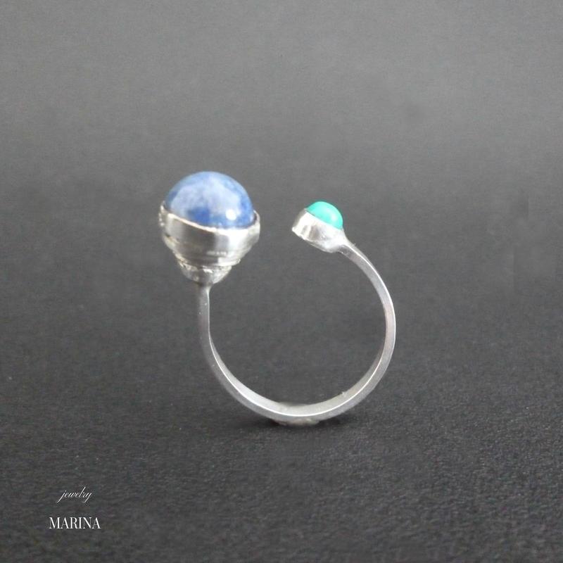 Unbalance - free size silver Ring