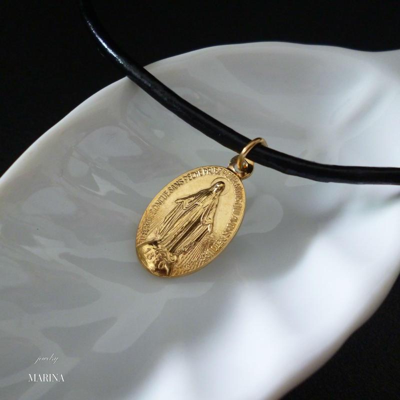 フランス奇跡のメダイのネックレス - gold