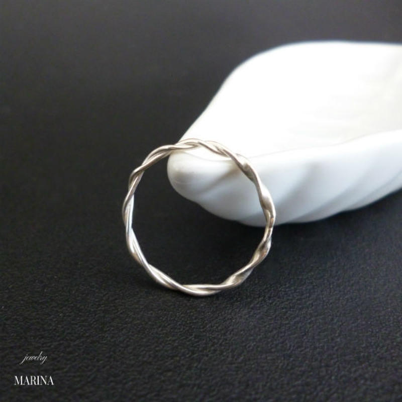 Twisted Ring - silver